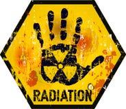 Rayonnement nucléaire illustration de vecteur