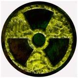 Rayonnement, signe, grunge nucléaire Photo stock