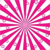 Rayonnez les éclats et les étoiles Image stock