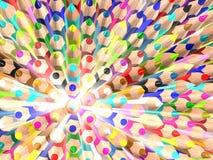 Rayonnez les crayons. Abrégez la texture. Photo stock