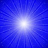 Rayons bleus Photo libre de droits