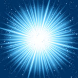 Rayons bleus abstraits Image stock