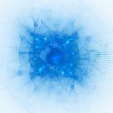 Rayons bleus lumineux Photos libres de droits