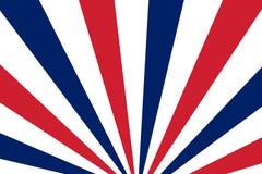 Rayons bleus, rouges et blancs Le radial rayonne le fond abstrait couleur illustration libre de droits