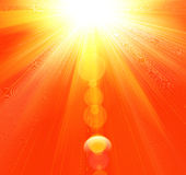 Rayons chauds d'été Photo stock