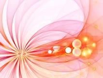 Rayons chauds roses, arcs avec des bulles - image de fractale illustration stock