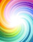 Rayons de fête de couleur Images stock
