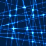 Rayons de laser de vecteur Photos libres de droits