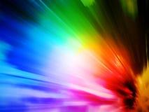 Rayons de lumière colorés