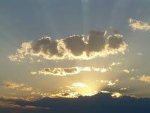 Rayons de lumière du soleil Photos stock