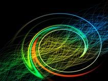 Rayons de lumière impressionnants d'éclairage de papier peint image libre de droits