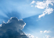 Rayons de soleil Photo libre de droits