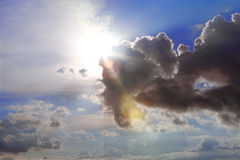 Rayons de soleil images stock