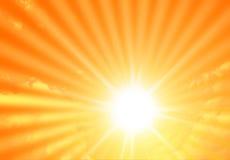 Rayons de soleil Photographie stock