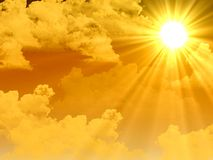 Rayons de soleil chauds Image stock