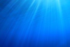 Rayons de soleil sous-marins photographie stock libre de droits