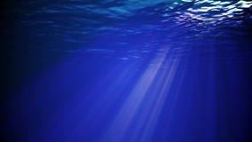 Rayons de soleil sous-marins illustration libre de droits