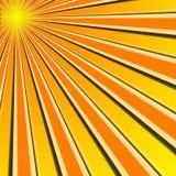 Rayons de Sun Image stock