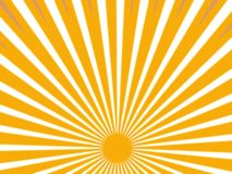 Rayons de Sun Photographie stock