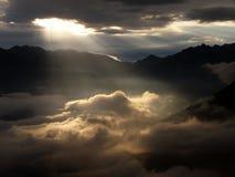 Rayons de Sun, début de la matinée photos stock