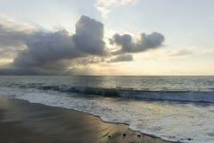 Rayons de Sun d'océan Photographie stock