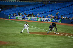 Rayons de Tampa Bay à Toronto Blue Jays Photo libre de droits