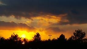 Rayons du soleil de soirée Photo stock