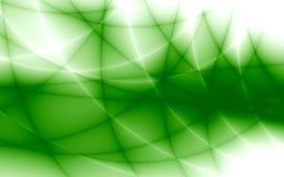 Rayons et lignes de couleur verte Photographie stock