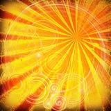 Rayons et texture oranges de courbes illustration stock