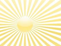 Rayons jaunes du soleil Photos libres de droits