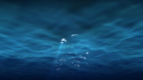 Rayons légers sous des réflexions de l'eau illustration stock