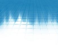 Rayons légers sur un réseau blanc. illustration stock