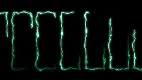 Rayons laser de couleur à l'arrière-plan noir Tunnel Beaux rayons Animation légère de boucle de tonnerre illustration de vecteur