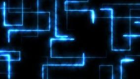 Rayons laser de couleur à l'arrière-plan noir Tunnel Beaux rayons Animation légère de boucle de tonnerre illustration stock
