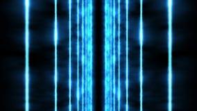 Rayons laser de couleur à l'arrière-plan noir Tunnel Beaux rayons Animation légère de boucle de tonnerre illustration libre de droits