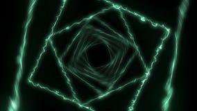 Rayons laser de couleur à l'arrière-plan noir Tunnel Beaux rayons Animation légère de tonnerre illustration stock