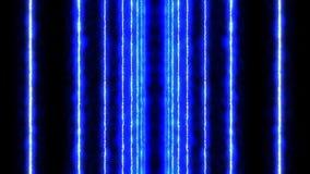 Rayons laser de couleur à l'arrière-plan noir Tunnel Beaux rayons Animation légère de tonnerre illustration libre de droits