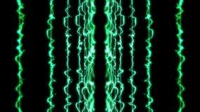 Rayons laser de couleur à l'arrière-plan noir Tunnel Beaux rayons Animation légère de tonnerre illustration de vecteur