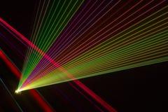 Rayons laser de couleur Photo stock