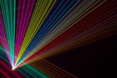 Rayons laser de couleur Images libres de droits