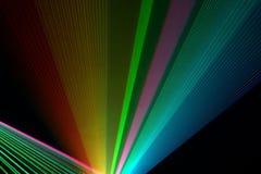 Rayons laser de couleur Image stock