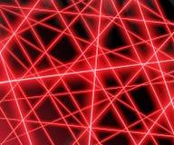Rayons laser rouges sur un fond noir, ENV 10 Photos libres de droits