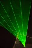 Rayons laser verts Photo libre de droits