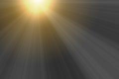 Rayons lumineux de coucher du soleil pour la conception de recouvrement images libres de droits