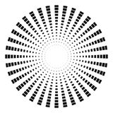 Rayons monochromes abstraits Photos libres de droits