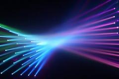 Rayons multicolores se reliants de fond de lumière photos stock