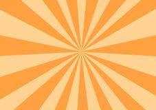 Rayons oranges illustration de vecteur