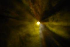 Rayons radiaux jaunes Image libre de droits
