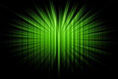 Rayons rayés verts Photo libre de droits
