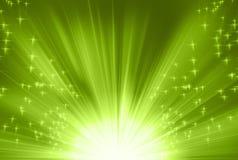 Rayons verts illustration de vecteur